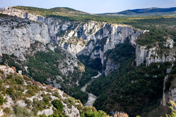 Il fiume Verdon nella strada panoramica delle Route de Cretes