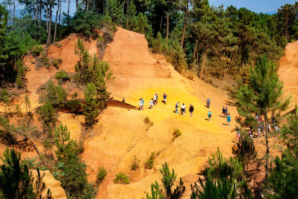 Il sentiero dell'Ocra visto dall'alto - Roussillon