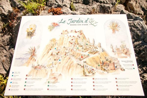 Le Jardin d Eze - Mappa del Giardino Esotico di Eza