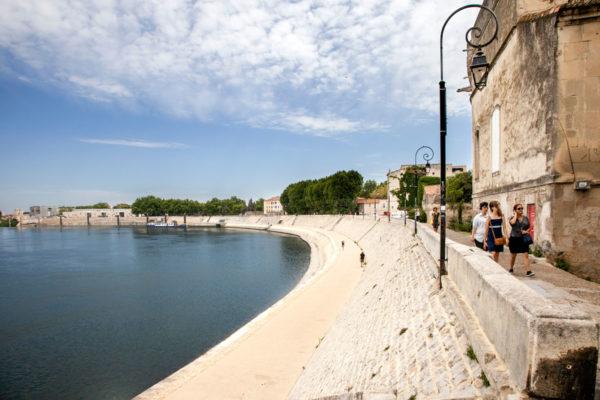Lungofiume Rodano di Arles - dalle terme di Costantino