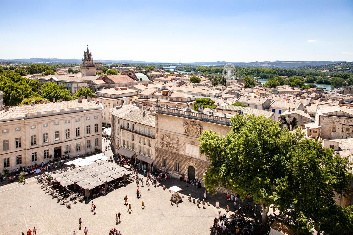 Panorama su Avignone Visto dal palazzo dei Papi