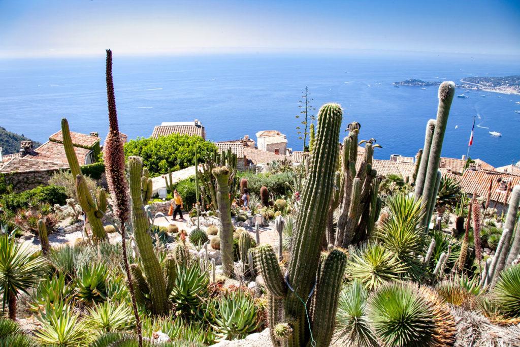 Panorama su Eza dal Giardino Esotico - Borgo di Pietra in Costa Azzurra