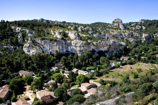 Panorama sulla vallata di Les Baux de Provence - Provenza
