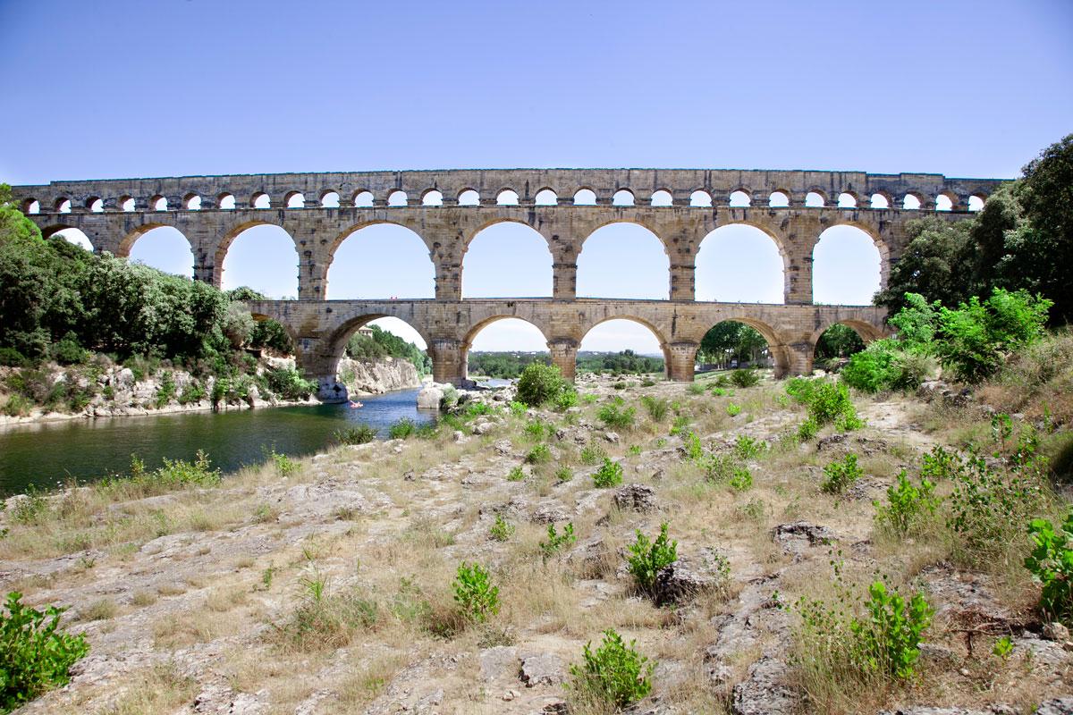 Pont du Gard - 6 archi primo livello - 11 archi secondo livello - 35 archi terzo livello