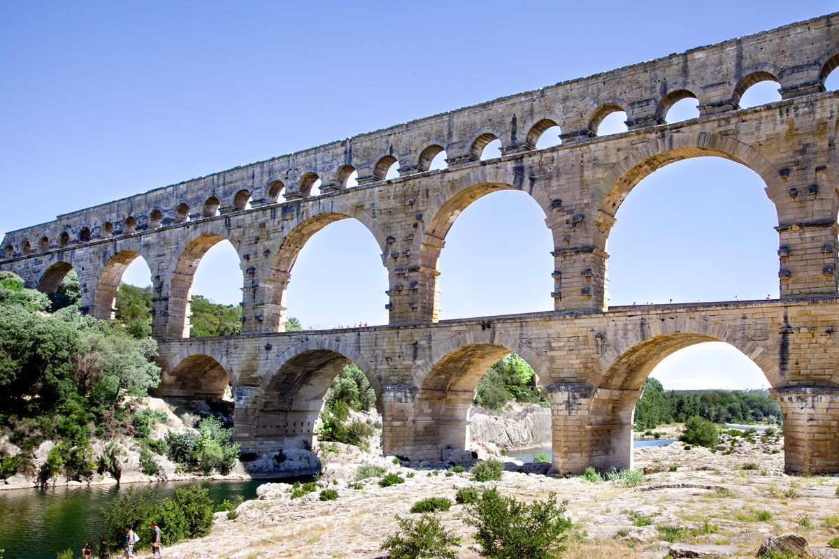 Pont du Gard - Acquedotto Romano Patrimonio UNESCO - Francia