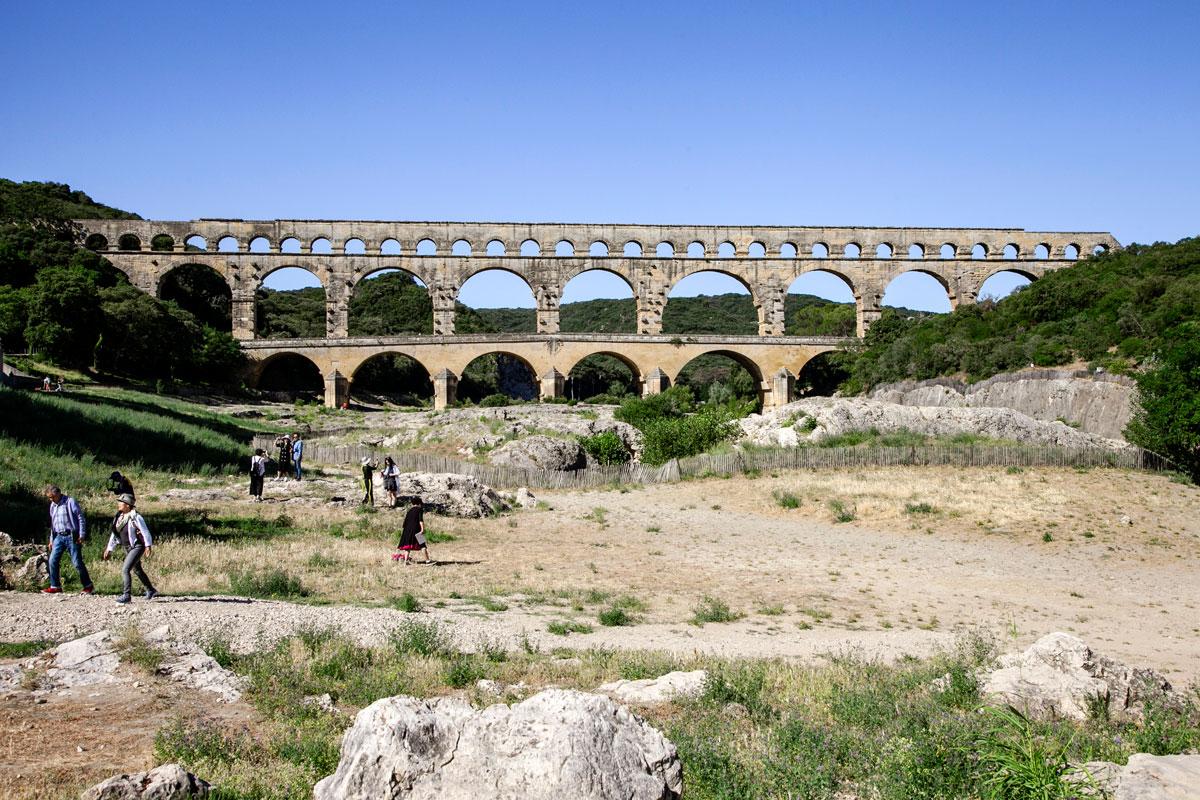 Pont du Gard - Acquedotto Romano nel sud della Francia