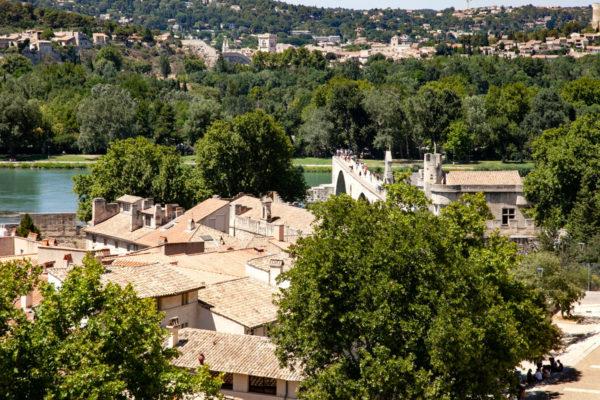 Ponte di Avignone visto dal Palazzo dei Papi