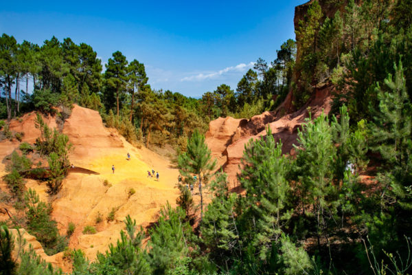 Sentiero dell'Ocra di Roussillon come in un Canyon Americano