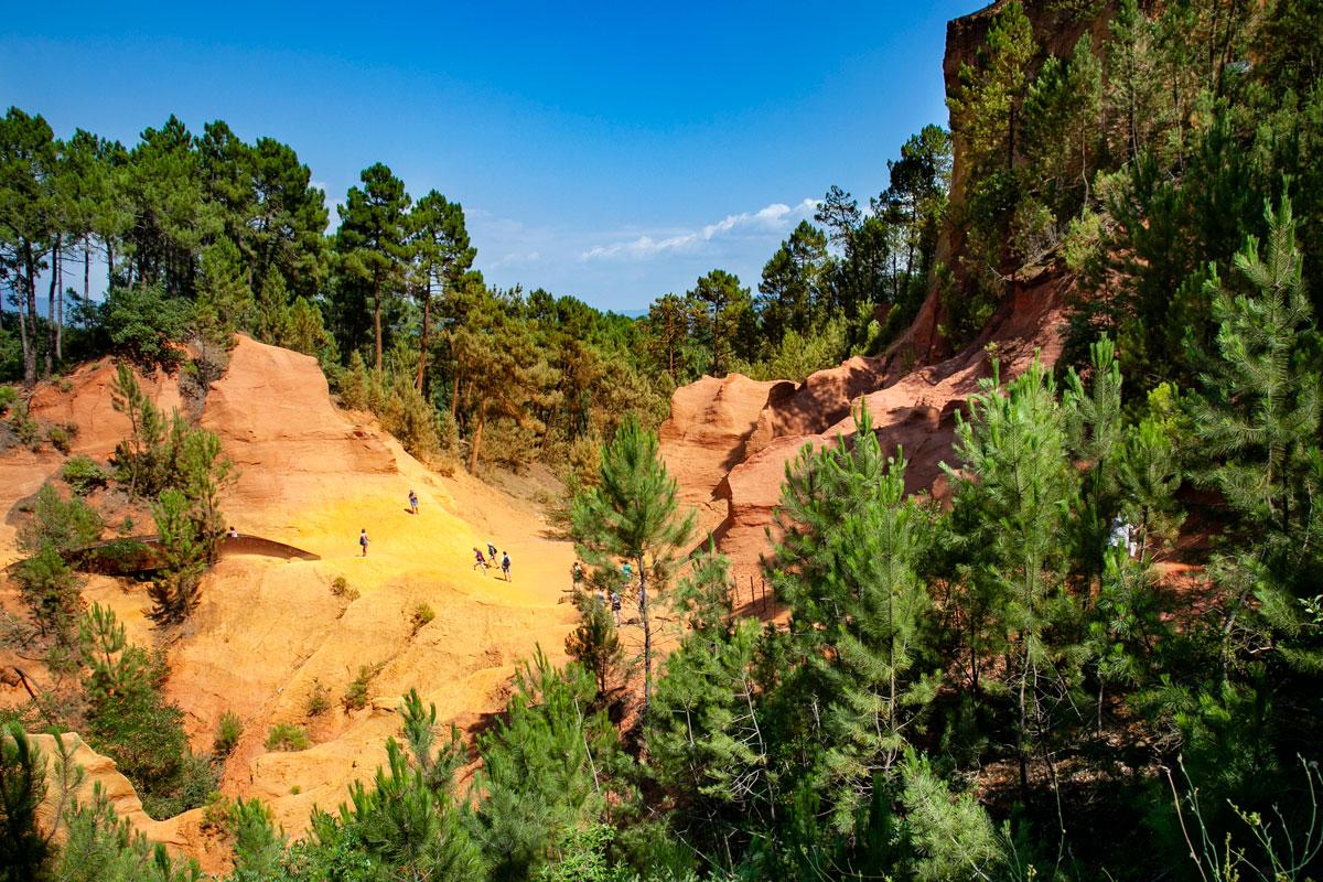 Sentiero dell'Ocra di Roussillon come in un Canyon Americano