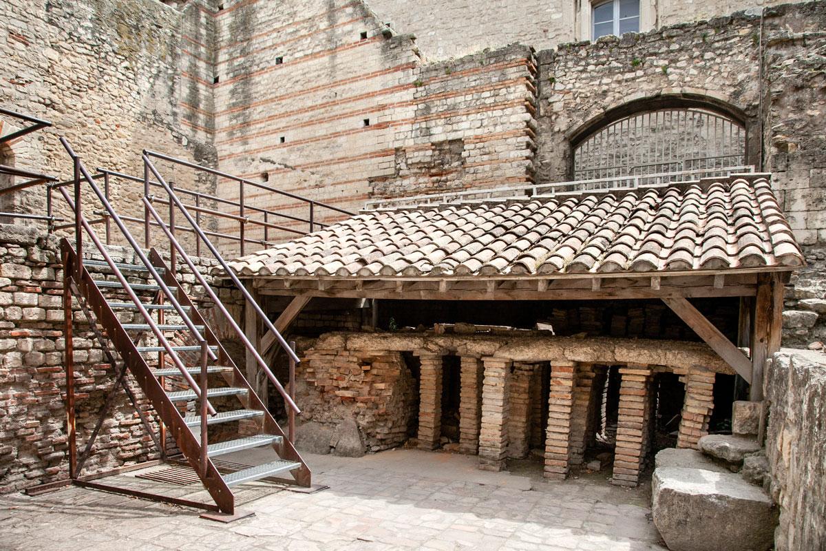 Sistema di riscaldamento delle terme di Costantino - Cosa vedere ad Arles