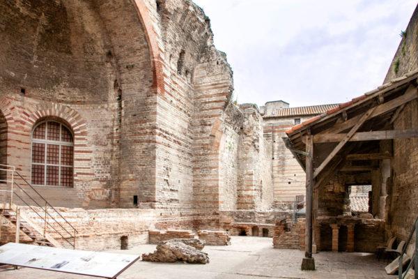 Terme di Costantino ad Arles - Stanza principale e sistema di riscaldamento