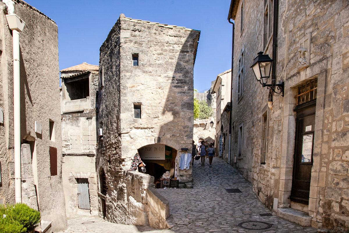 Vicoli del centro storico di Les Baux de Provence