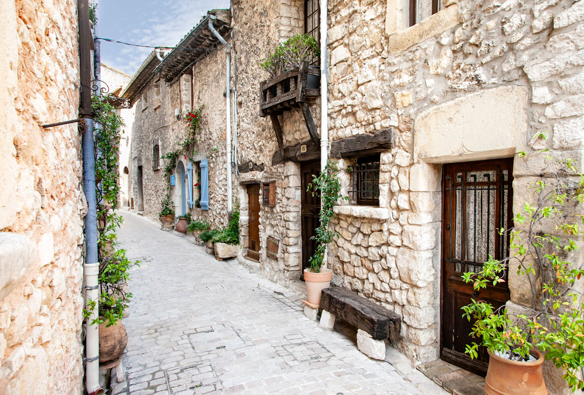 Centro Storico e case di pietra in Provenza