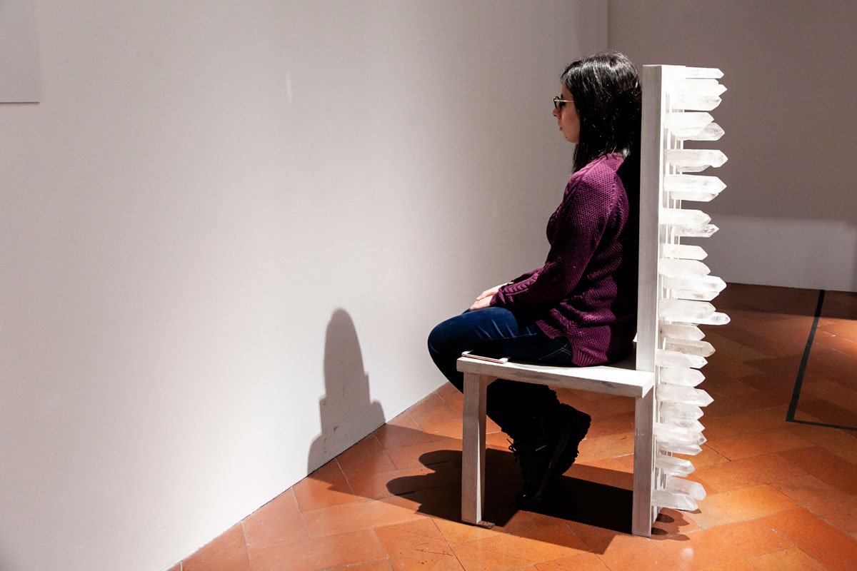 Chair for Human Use - Transitory Objects for Human Use - Sedia con Cristalli su cui meditare