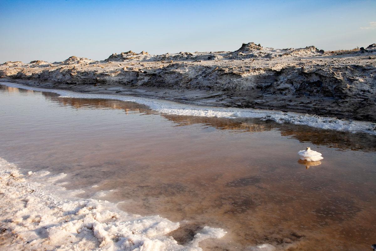 Depositi di sale alla Salina di Giraud