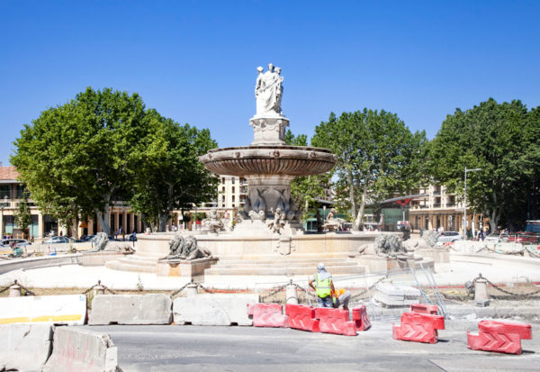 Fontaine de la Rotonde al termine di Cours Mirabeau