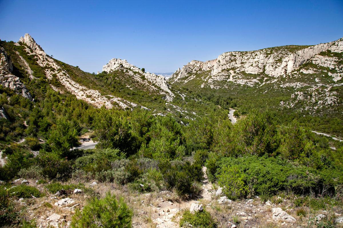 In mezzo alla natura dei calanchi di Marsiglia
