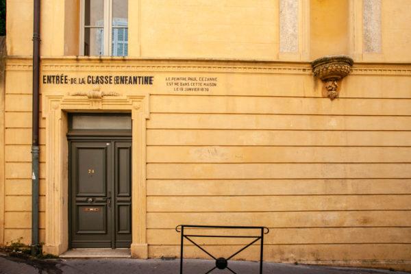 Ingresso della casa natale di Paul Cezanne
