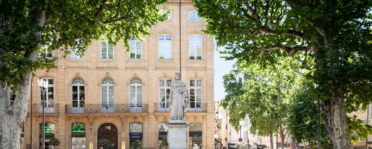 Inizio di Cours Mirabeau con fontana - Aix en Provence