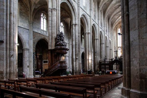 Interni della basilica di Saint Maximin La Sainte Baume