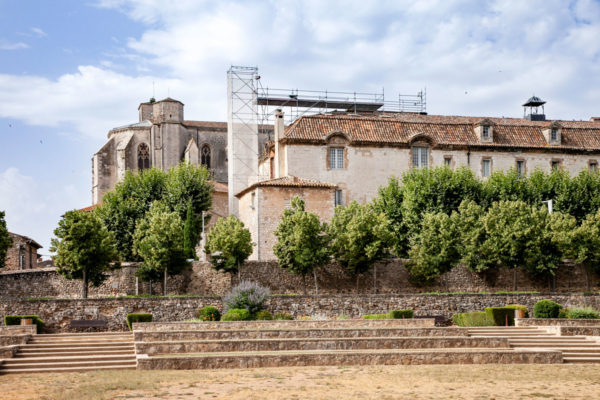 La basilica vista dai giardini de l'Enclos di Saint Maximin La Sainte Baume - Vecchi orti del convento