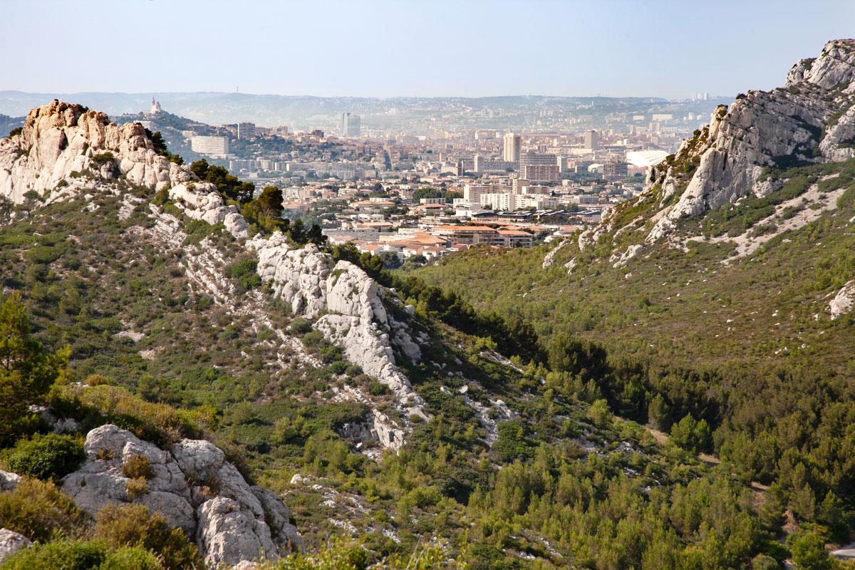 Marsiglia vista dal parco nazionale dei calanchi di Marsiglia