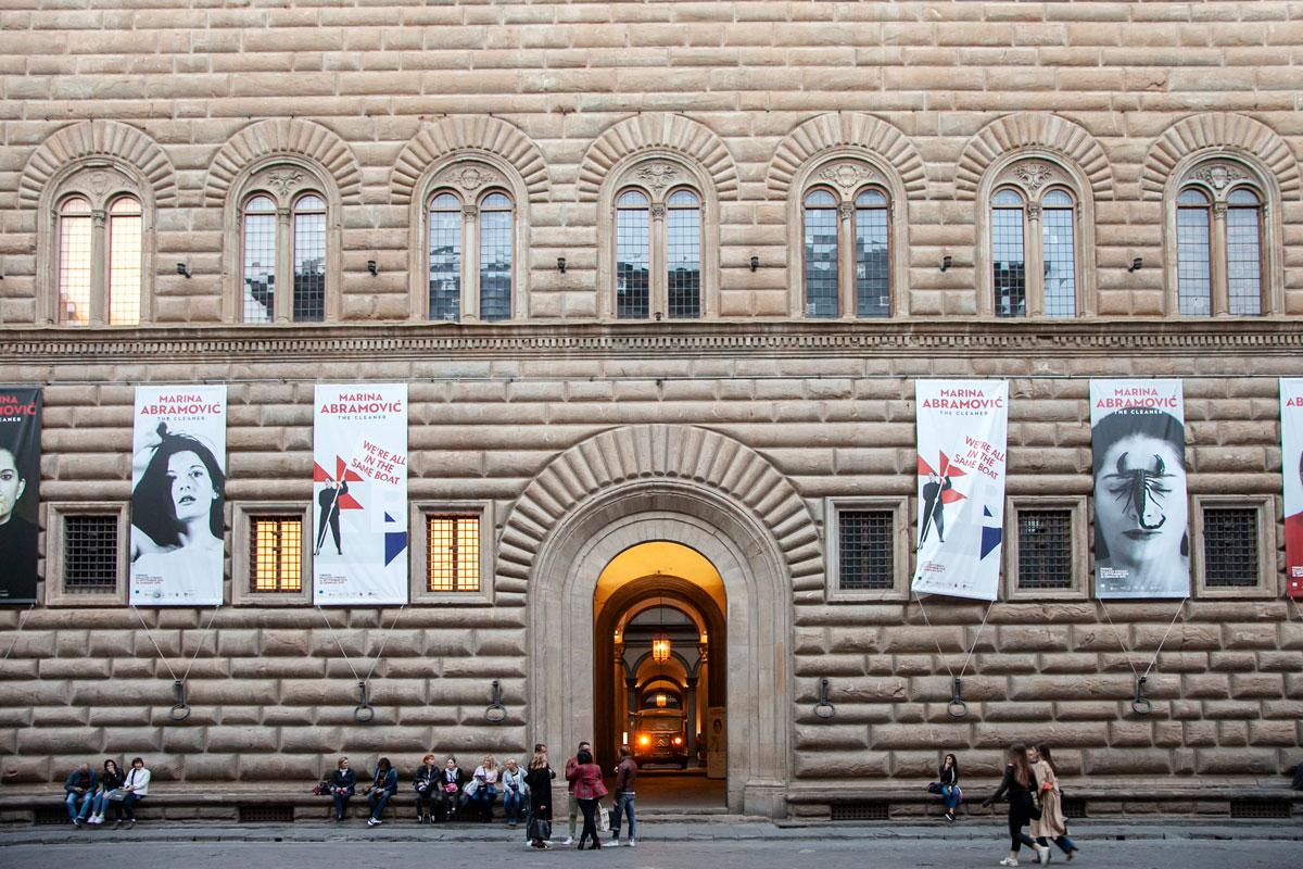Palazzo Strozzi di Firenze - Mostra di Marina Abramović