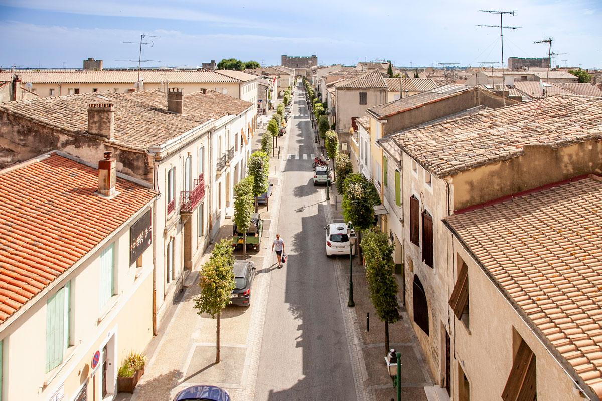 Panorama sui tetti della città
