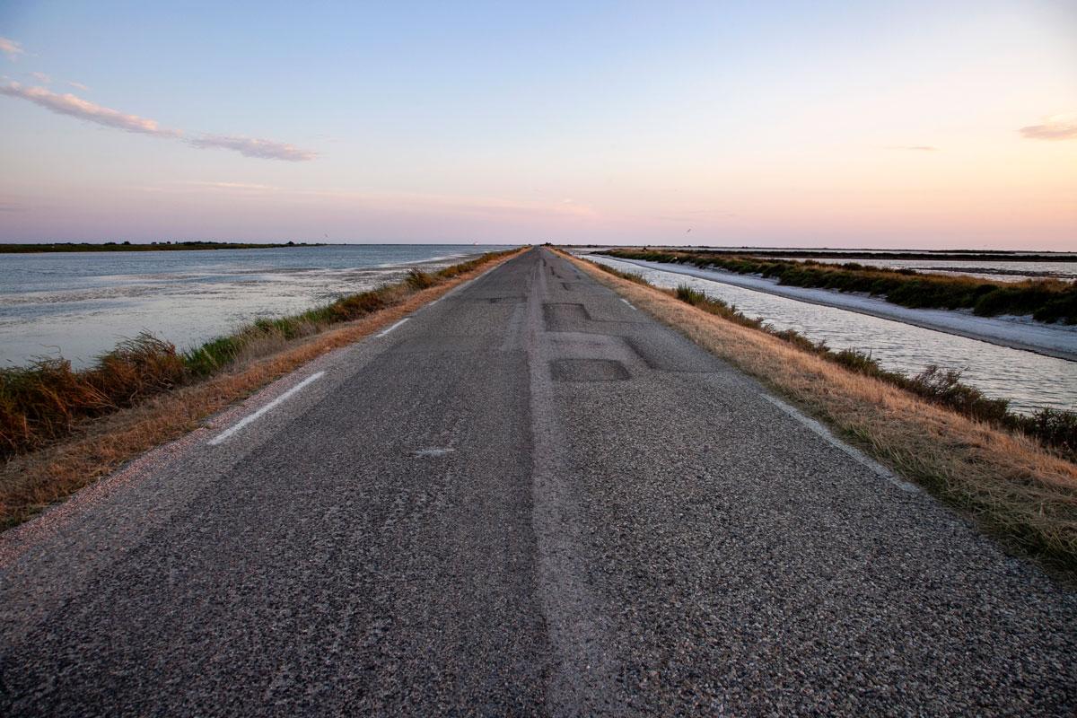 Route de la Mer in Camargue - Tramonto