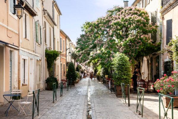 Vicoli del centro storico di Aigues Mortes