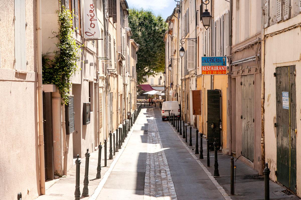 Vicolo del centro storico di Aix en Provence