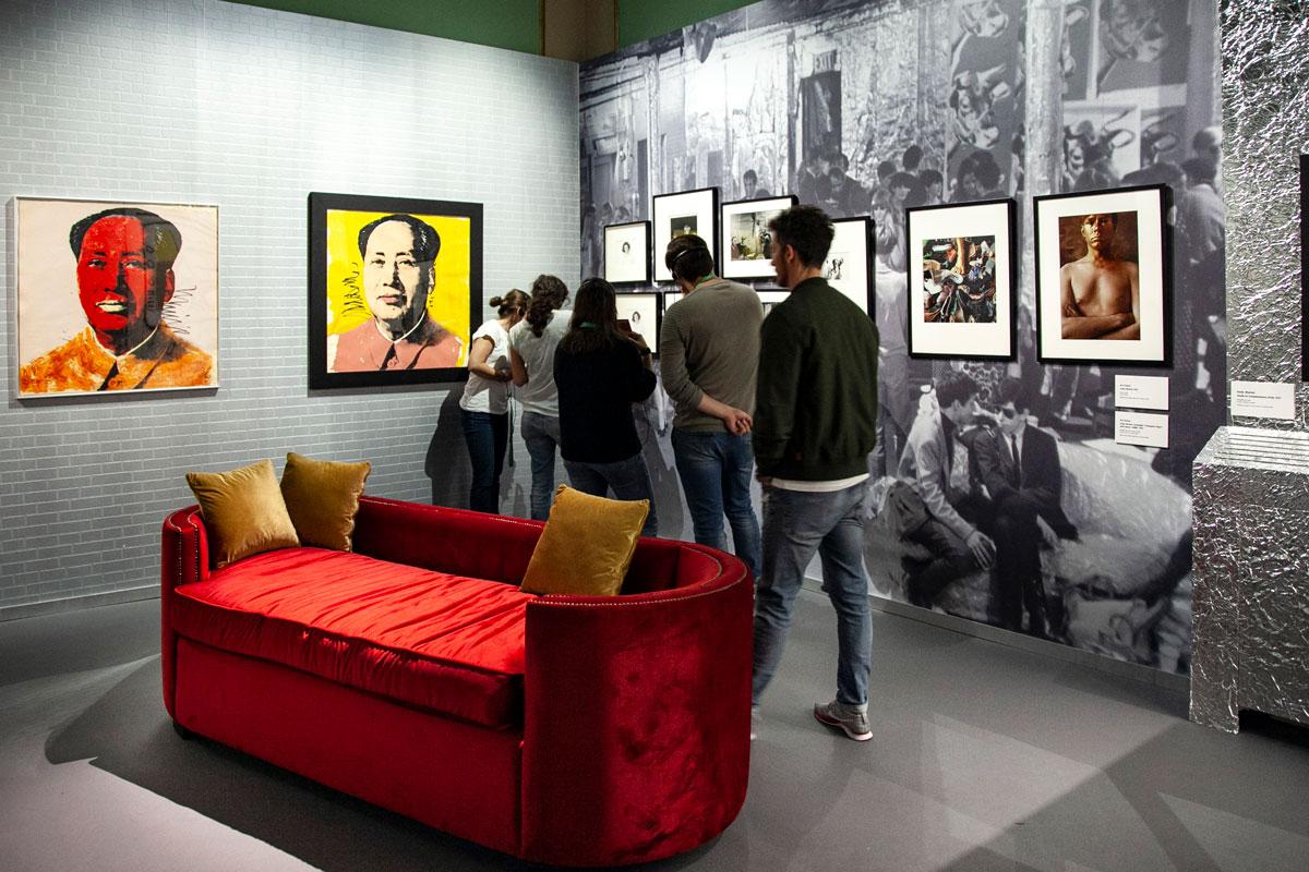 Warhol and Friends - Allestimento mostra Palazzo Albergati Bologna