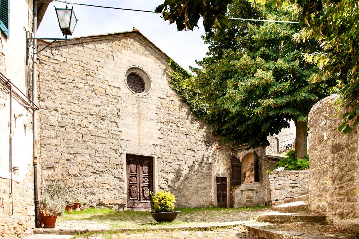 Chiesa e centro storico di Cortona