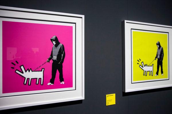 Choose your Weapon - Autoritratto di Banksy con cane di Keith Haring