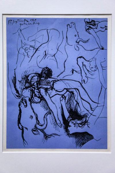 Disegno di Picasso con Tori e figure umane - Palazzo Reale di Milano