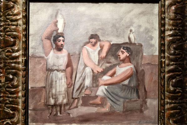 Donne alla fontana - Dipinto del 1921 di Pablo Picasso - Metamorfosi arte classica