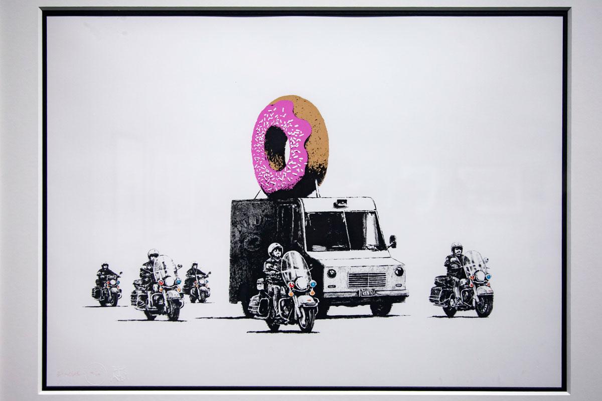 Donut - Serigrafia del 2009 di Banksy