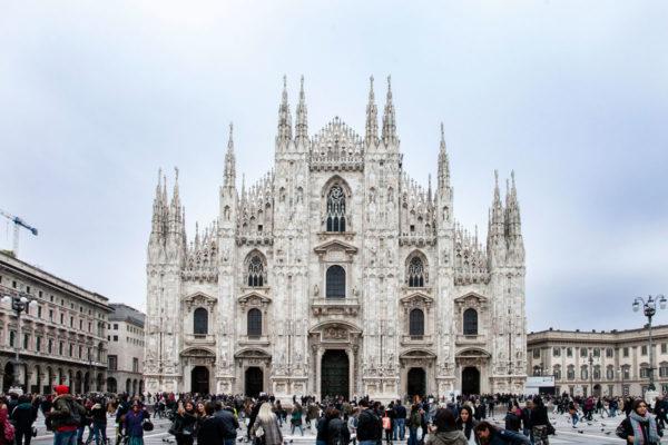 Duomo di Milano in Giornata Uggiosa