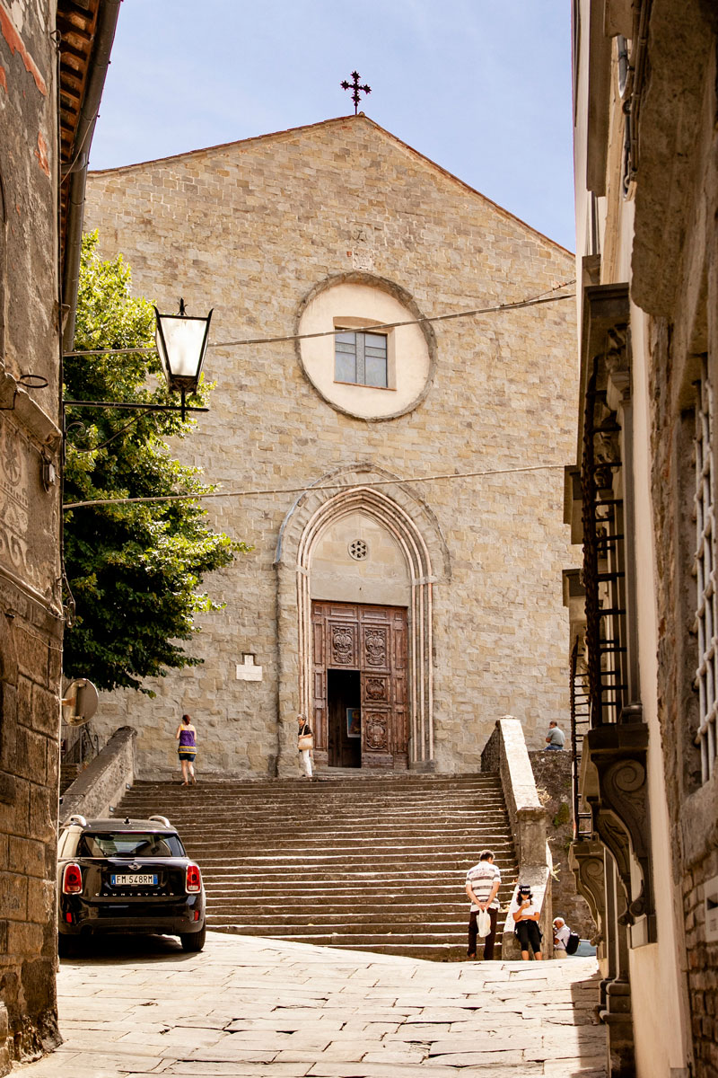 Facciata della Chiesa di San Francesco di Cortona