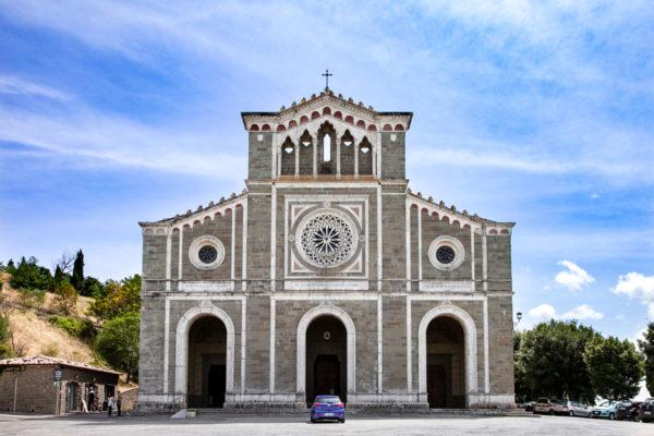 Facciata della chiesa del Santuario di Santa Margherita - Cortona - ristrutturazione di epoca ottocentesca