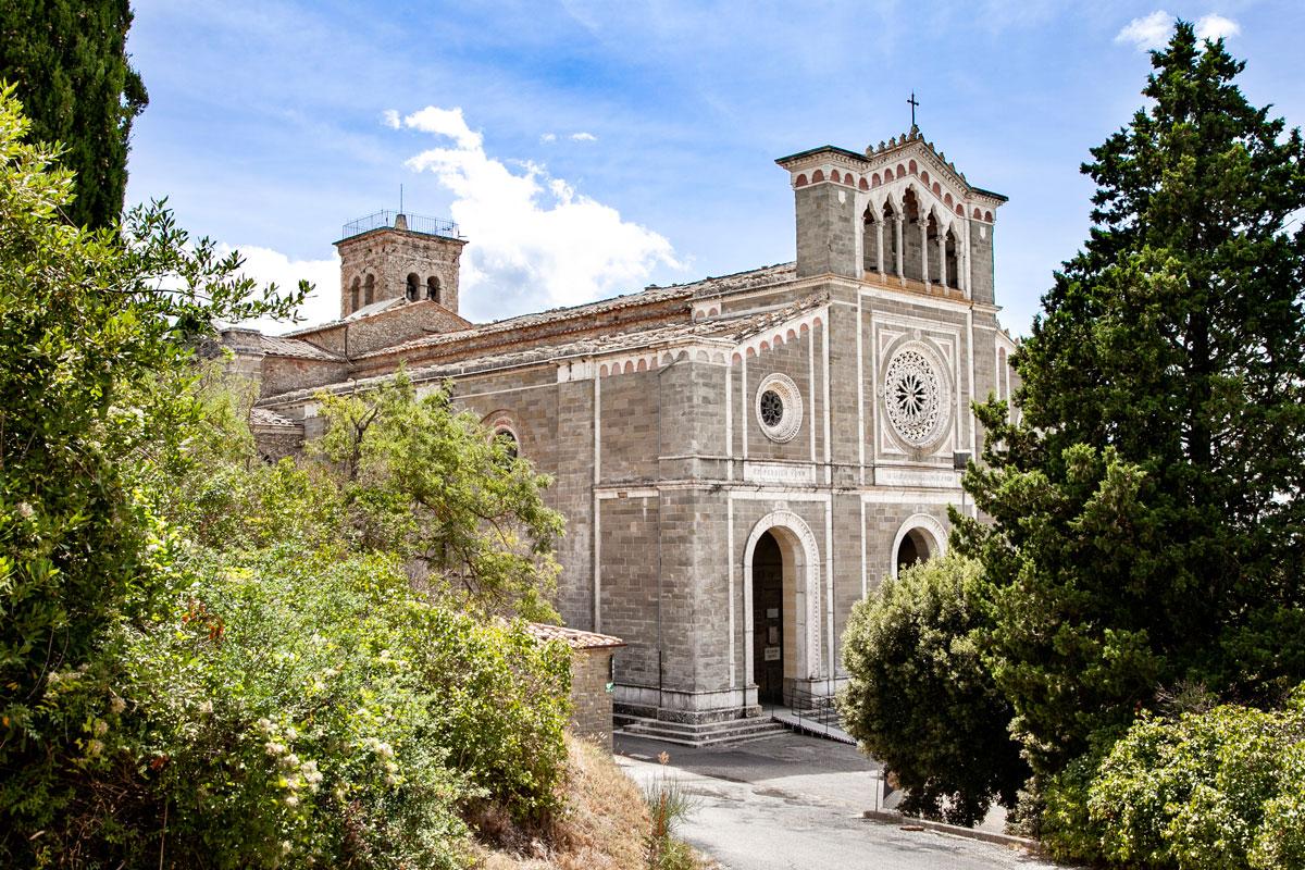 Facciata e struttura del Santuario di Santa Margherita - Cortona
