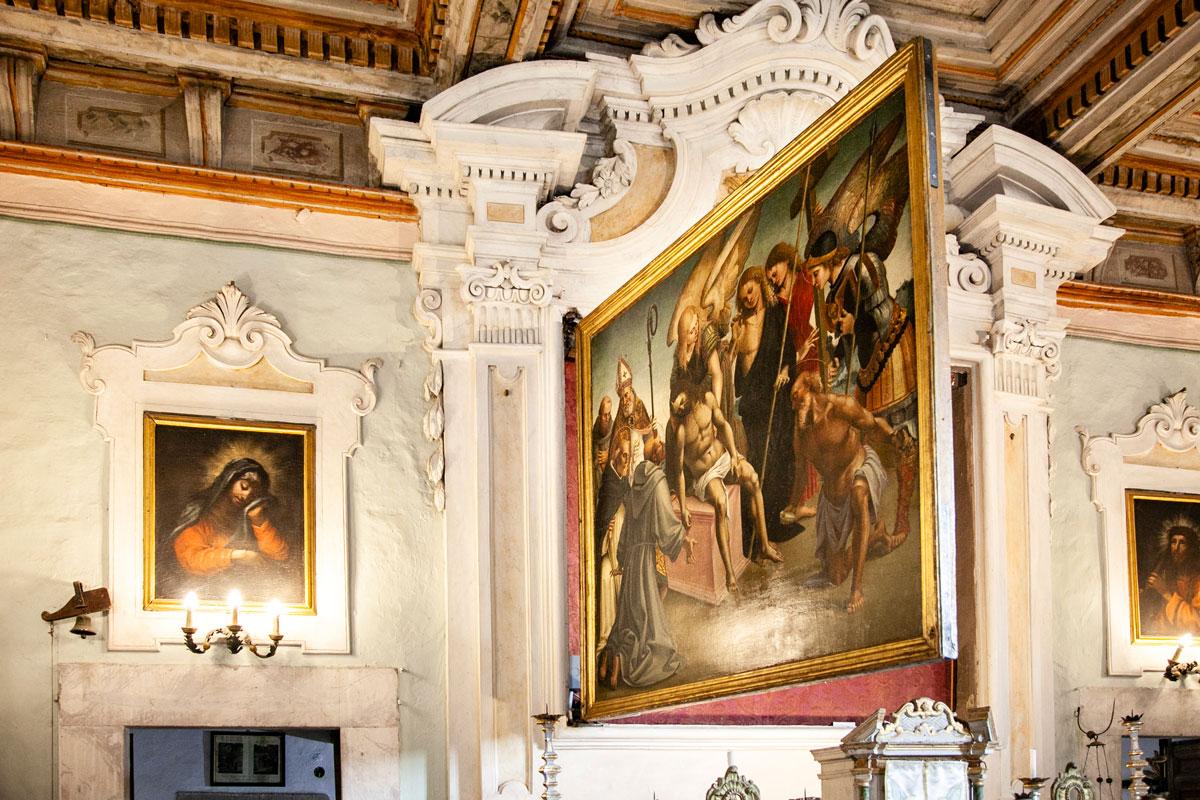 Gonfalone della Compagnia di San Niccolò - Dipinto su entrambe le facciate da Luca Signorelli - Cortona