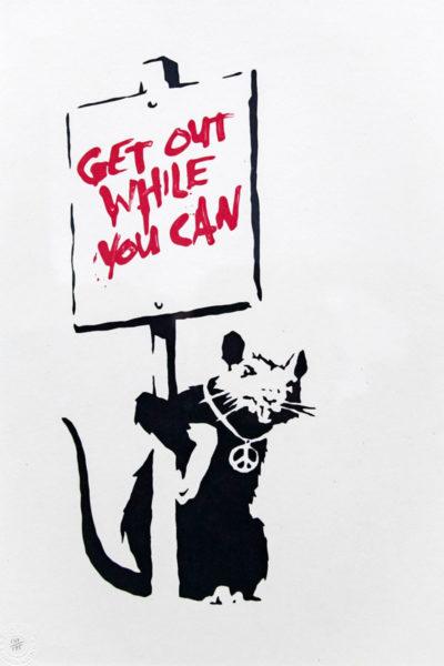 I topi di Banksy - portatori di messaggi e ovunque presenti