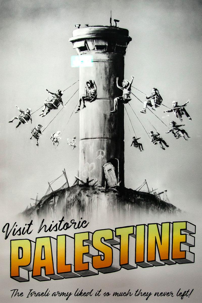 Il rapporto di Banksy con la Palestina