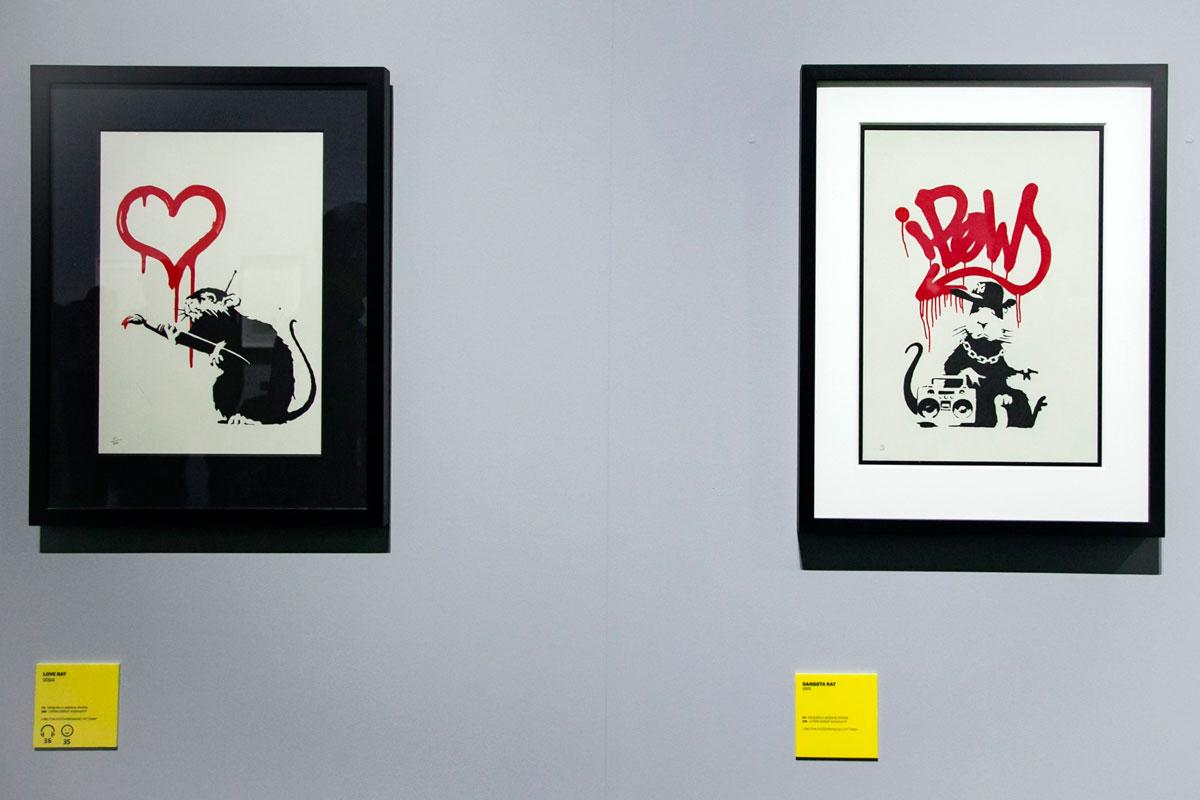 Il topo visto come il grafittaro - similitudini nella street art