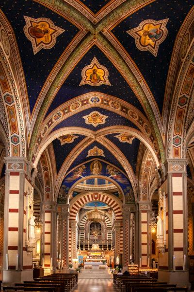 Interni dipinti del Santuario di Santa Margherita - Cortona