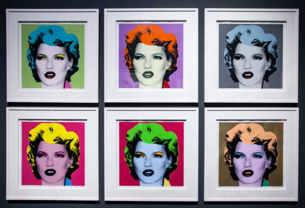 Kate Moss rifatta da Banksy come Marilyn di Warhol