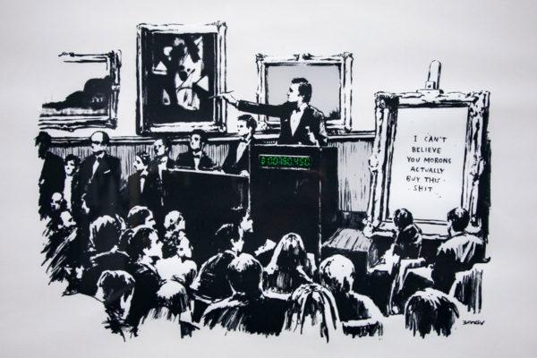 Morons - 2006 - Banksy critica il mercato artistico