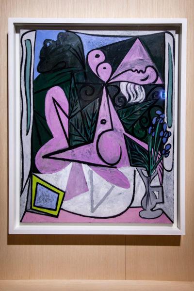 Nudo con boquet di iris e specchio - Mostra di Picasso Metamorfosi a Palazzo Reale