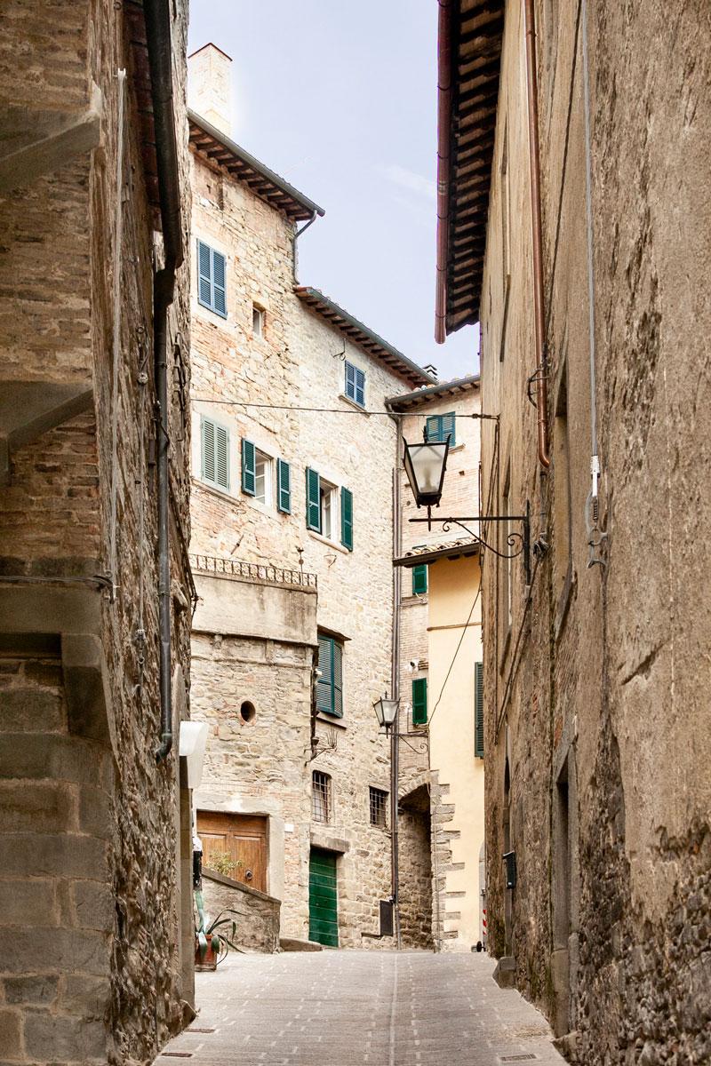 Palazzi e edifici storici nel centro storico di Cortona